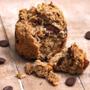 Chocolate Chip Muffins (Vegan option)