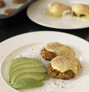 Sweetcorn Fritters 'Benedict'